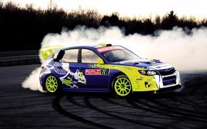 Picture drift, subaru, impreza, puma, global rally cross