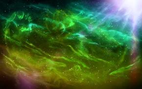 Picture the sky, stars, rays, light, nebula