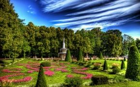 Picture summer, trees, landscape, Park, treatment, fountain, summer, Nature, trees, park, fountain