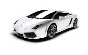 Picture Lamborghini, white background, Gallardo, Lamborghini, Gallardo