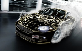 Picture Jaguar, Lights, Smoke, Light, Turn