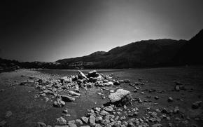 Picture lake, stones, mountain, Greece, dobraatebe, Crete
