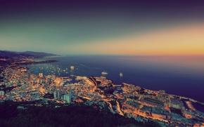 Picture the city, the evening, Monaco