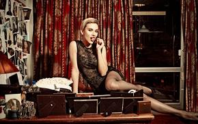 Picture Scarlett Johansson, Scarlett Johansson, photoshoot, 2015, Saturday Night Live