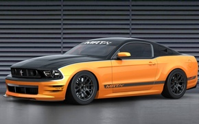 Picture orange, black, tuning, Mustang, ford