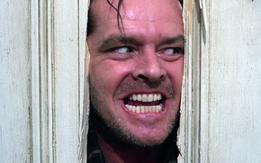 Picture the door, Jack Nicholson, Lights, anger, The Shinihg