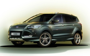 Picture Green, Crossover, Titanium X Sport, Ford Kuga