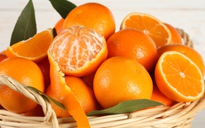 Picture basket, oranges, fruit, citrus, fruit, peel, citrus, oranges