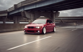 Picture BMW, red, Coupe, E46