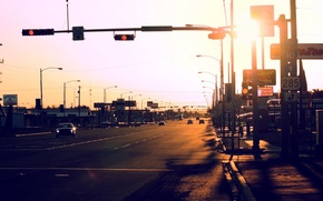 Picture road, auto, light, the city, street, USA, Texas, Fort Stockton