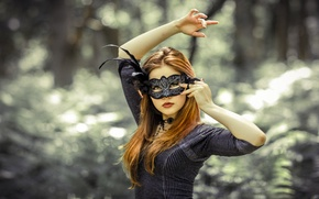 Picture sexy, redhead, mask