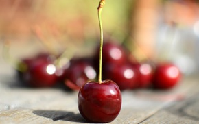 Wallpaper macro, cherry, table, berry, cherry, sweet
