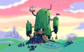 Picture art, art, jake, adventure time, Adventure time, Jake, Finn, finn, tree house