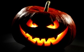 Picture autumn, night, Halloween, pumpkin, Halloween, smile, face, holiday, pumpkin