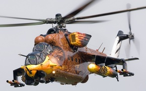 Wallpaper BIRD, AIRBRUSHING, FEATHERS, BEAK, WEAPONS, HELICOPTER, BLADES