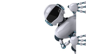 Picture robot, white background