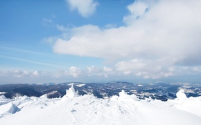 Picture the sky, snow, mountains, nature, Winter, the snow, wallpapers, obloka, nature Wallpaper