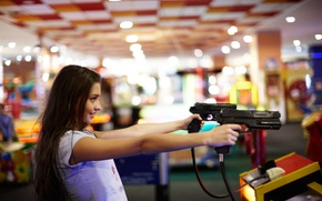 Picture girl, face, hair, guns, the game, goal, Darina, the world of entertainment