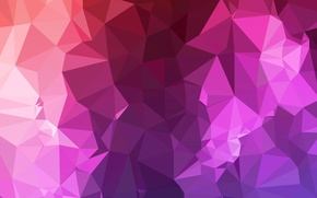 Picture purple, line, red, pink, triangles, angle, faces, geometry, Babylon, polygons, combination