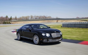 Picture Auto, Bentley, Continental, Road, Black, The Mans, Machine, Day, Coupe, In Motion