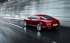 Picture speed, Red, Cars, Bentley Continental 2012