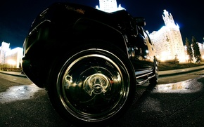 Picture lights, wheel, chrome