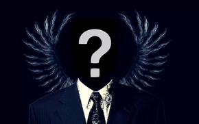 Picture wings, Hacker, anonymous, hacker, opositely sign, asa, Anonymus