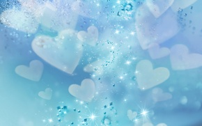 Picture heart, beautiful, blue