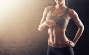 Picture sexy, boobs, muscle, fitness, sportswear, abdominal