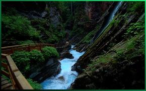 Picture river, trail, gorge