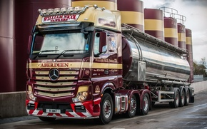 Picture plant, Mercedes-Benz, truck, Mercedes, 2011, tank, UK-spec, Actros, machinery