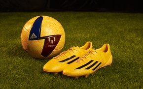 Picture lawn, the ball, Adidas, adidas, Barcelona, football, Messi, barcelona, cleats, boots, adizero