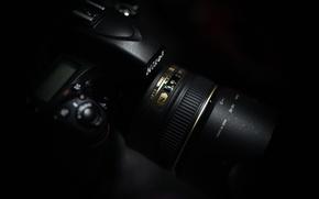 Picture macro, background, camera, Nikon