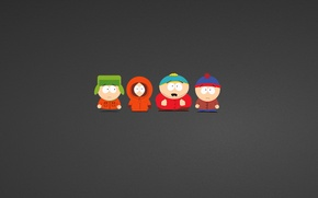 Picture South Park, South Park, Stanley (Stan) Marsh, Kenneth (Kenny) McCormick, Eric Theodore Cartman, Kyle Broflovski