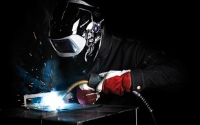 Picture black, mask, welding