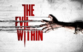 Picture blood, logo, wire, arm, Evil Within