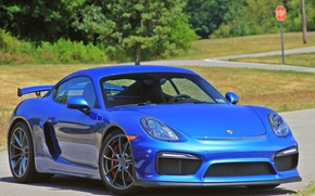 Picture Cayman, Porshe, Blue, GT4