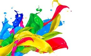 Picture drops, squirt, paint, colors, design, splash, paint, acrylic