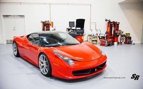 Picture garage, Ferrari, sports car, 2012, Ferrari, 458, SR Auto Group, Factory Flush
