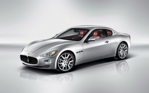 Wallpaper car, leather interior, Maserati