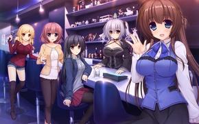 Picture girls, anime, art, Hataraku Otaku No Ren'ai Jijou
