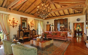 Picture design, living room, interior, fireplace, Moroccan style
