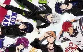 Picture red, blue, Project Key, Yata Misaki, Misaki YATA, K Project, Munakata Reishi, Mikoto Suoh, Fushimi, …