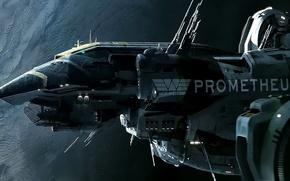 Wallpaper ship, starship, art, space, Prometheus, prometheus