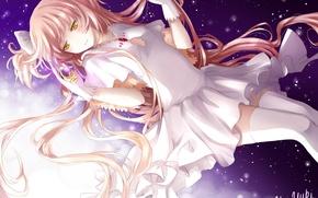 Picture girl, stars, anime, art, mahou shoujo madoka magica, madoka kaname, girl madoka, ultimate madoka, yue …