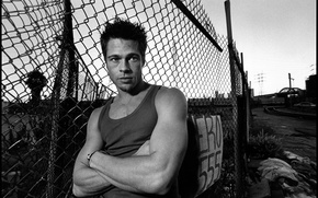 Picture grille, the fence, actor, Brad Pitt, Male