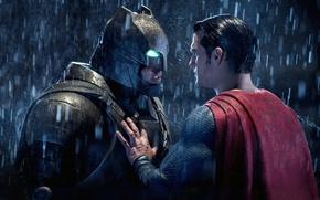 Picture fiction, rain, costume, helmet, Batman, Ben Affleck, comic, Superman, Clark Kent, Bruce Wayne, Henry Cavill, …