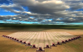 Picture field, clouds, horizon, combiners