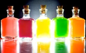 Picture light, color, 158, Bottles