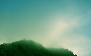 Wallpaper fog, color, Rocks
